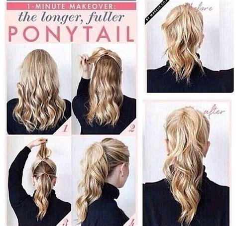 haircuts to make look longer make your pony tail appear longer so easy trusper