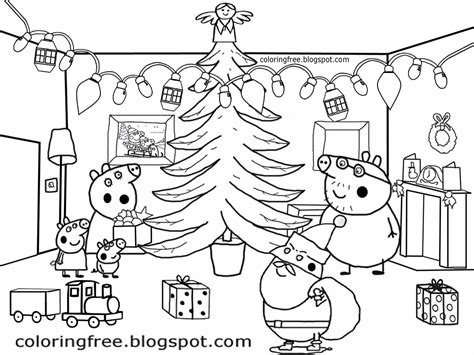 peppa pig christmas coloring pages free coloring pages printable pictures to color kids