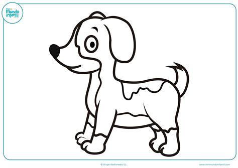 imagenes para colorear un perro dibujos de perros para colorear mundo primaria