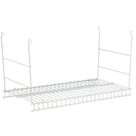 How To Hang Closetmaid Wire Shelving closetmaid 24 in hanging wire shelf 1048 the home depot