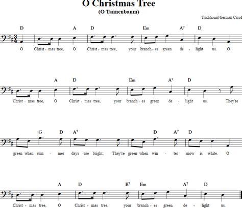 o christmas tree variation pdf sheet music o tree cello sheet