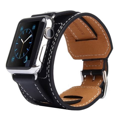 Nomad Modern Build Leather Apple 42mm Black Buckle kakapi bracelet style metal buckle cowhide leather