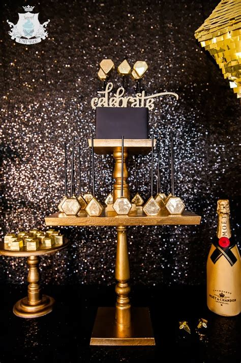 party themes black and gold new year s eve party b lovely events