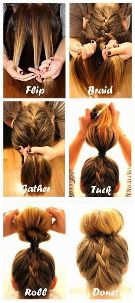 howtododoughnut plait in hair beauty how to do the upside down french braid bun