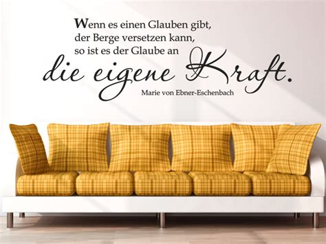 Wandtattoo Eigenes Motiv by Gesundheit Zitat Die Eigene Kraft Wandtattoo Zitat Ebner