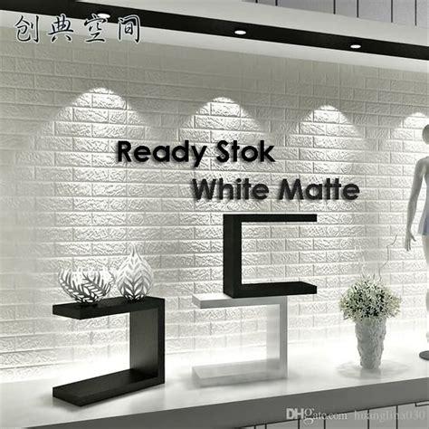 jual wallpaper dinding bata putih  foam brick  lapak