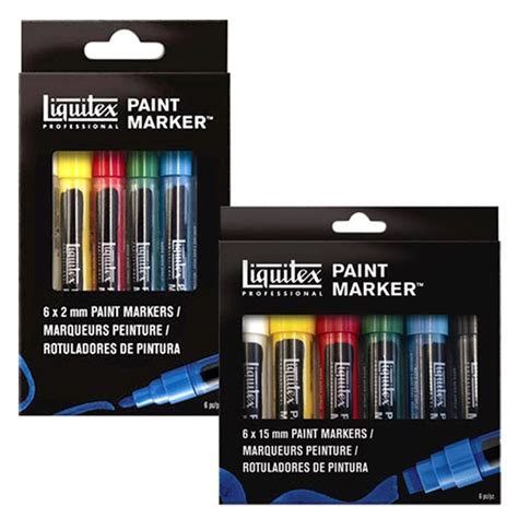 Liquitex Paint Marker Fluorescent Set 6 marker sets and accessories jerrysartarama
