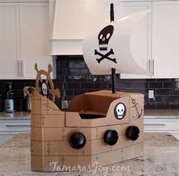 Pirate Home Decor Boys Kids Costume Diy Cardboard Pirate Ship Tamara S Joy