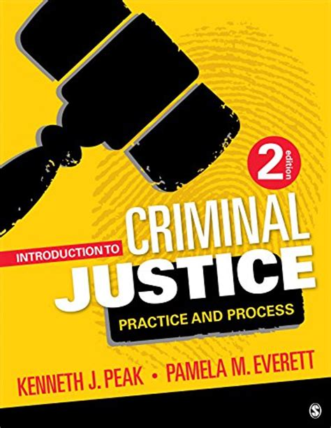 introduction to criminal justice practice and process