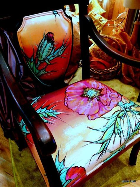 hand painted upholstery fabric pin by dina on bohemian decor pinterest
