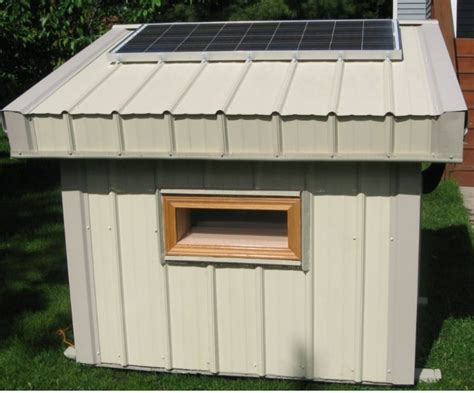 solar powered dog house keeping a dog house warm with solar power diy