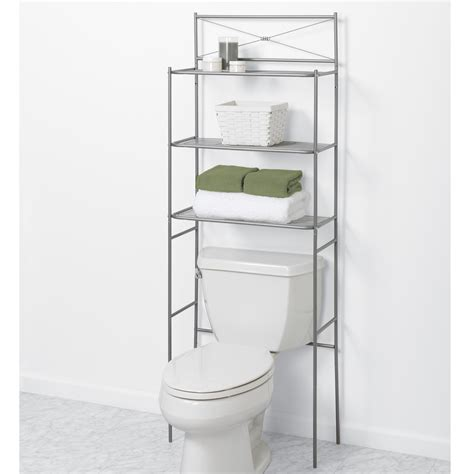 Shelf Space Savers by Bathroom Overtoilet Steel Spacesaver Storage Organizer W 3