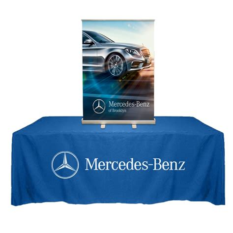 retractable stand up table top retractable roll up banner stand 33 quot with vinyl