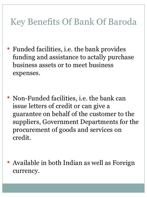 Letter Of Credit Bank Of Baroda Working Capital