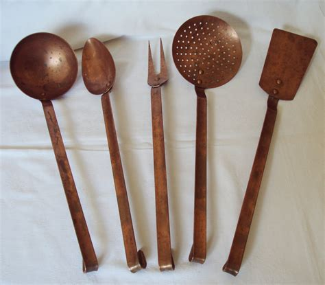 Vintage Kitchen Utensils by Vintage Copper 5 Kitchen Utensils By Mamaisonfrancaise