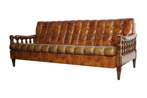 what is couch in spanish 1970s spanish revival tortoiseshell tufted sofa chairish