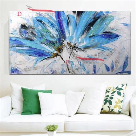quadro fiori moderno quadro su tela moderno fiori azzurri dipinti moderni