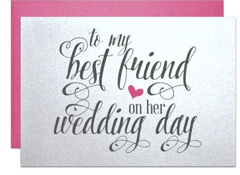 Gift Cards For Wedding Presents - wedding gift card for best friend wedding bridal shower gift cards for best friend