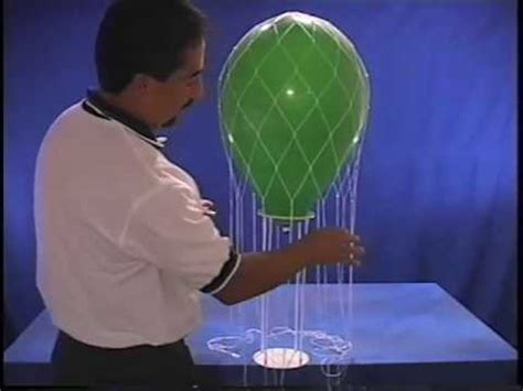 how to make a hot air balloon centerpiece with ribbon or