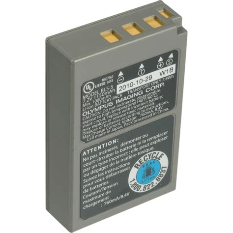 used olympus bls 5 lithium ion rechargeable battery 260604 b h