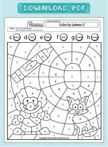 color by letter worksheets letter c worksheet coloring pages