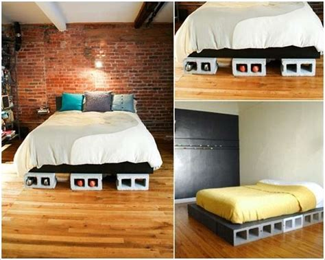 cinder block bed 10 cool ideas to decorate your home with concrete blocks