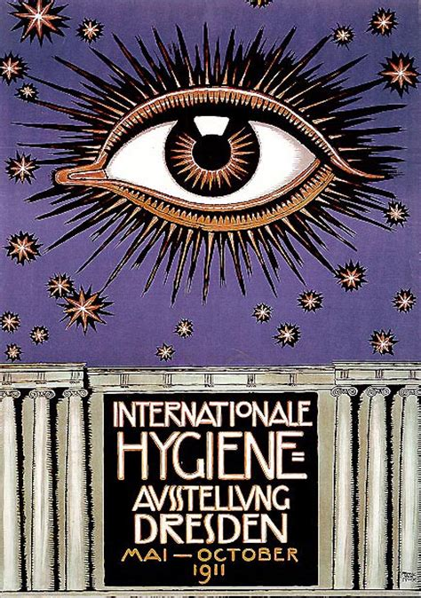 Stuck Dresden by Poster For The International Hygiene Exhibition 1911 In