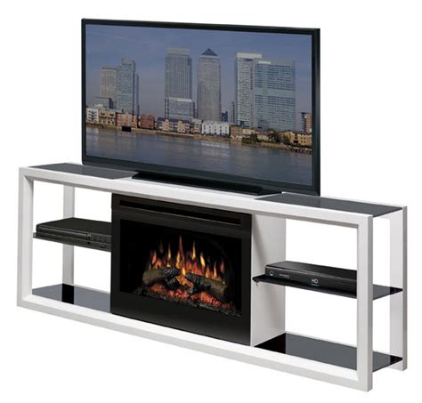 64 quot dimplex novara white entertainment center fireplace