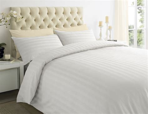 sateen bed sheets 250tc egyptian cotton sateen stripe duvet quilt cover