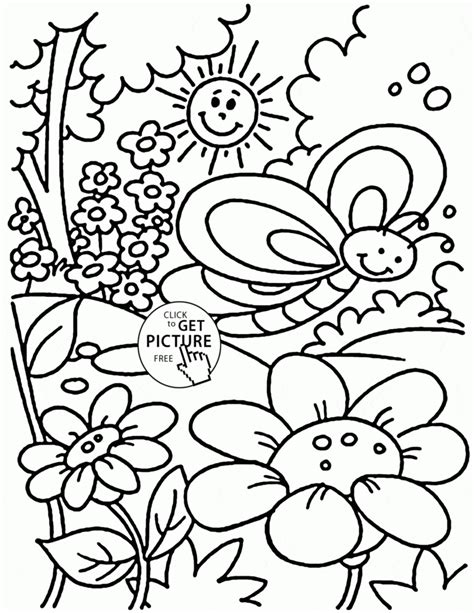 printable coloring pages for kids pdf coloring pages nice spring coloring page for kids seasons