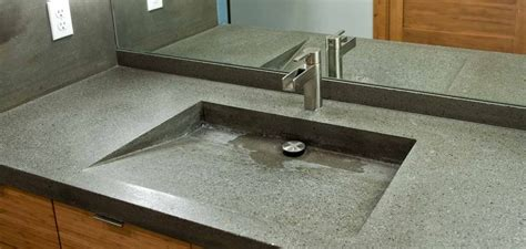 concrete countertop with integrated sink 25 best ideas about concrete sink bathroom on