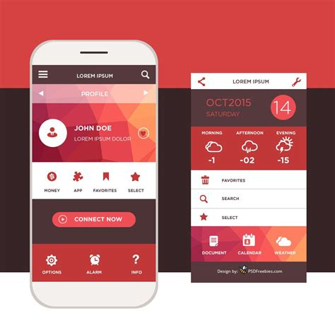 mobile de mobile application interface design psd ux