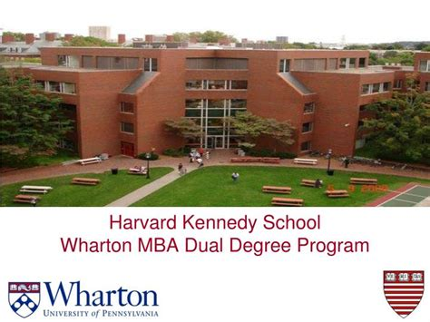 Harvard Mba Profile by Ppt Harvard Kennedy School Wharton Mba Dual Degree