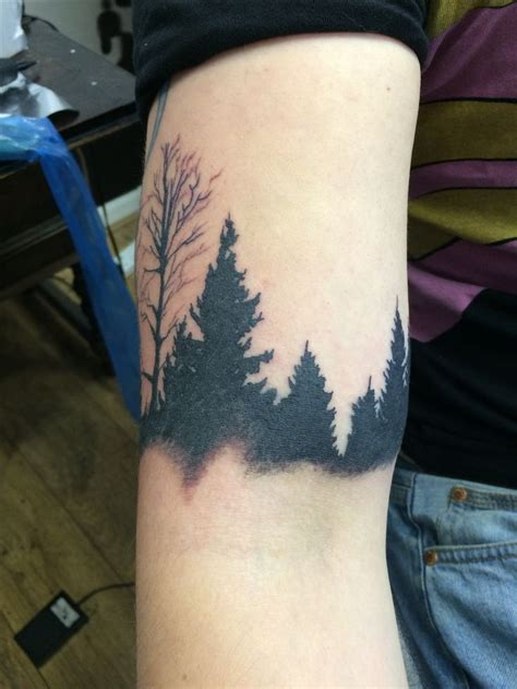 forest silhouette tattoo 17 best ideas about tree silhouette on