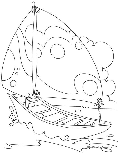 coloring pages yacht yacht in sea coloring page free yacht in sea