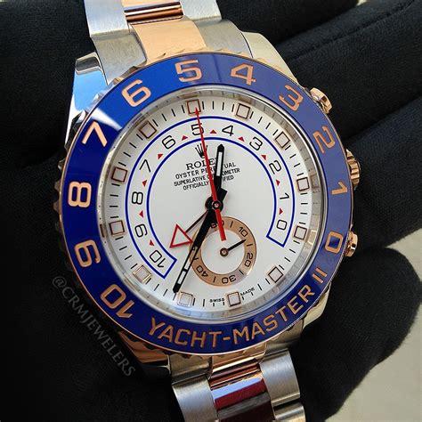 rolex yacht master ii  tone white crm jewelers