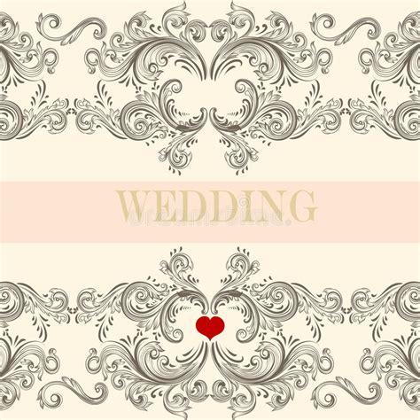 wedding invitation ornaments vector wedding greeting invitation card with ornament stock vector illustration of invitation