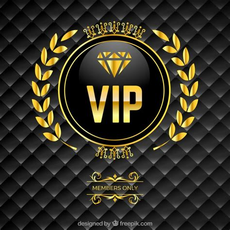 backdrop logo design vip padded background with golden logo vector free download