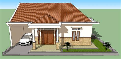 sketsa sederhana rumah minimalis 2