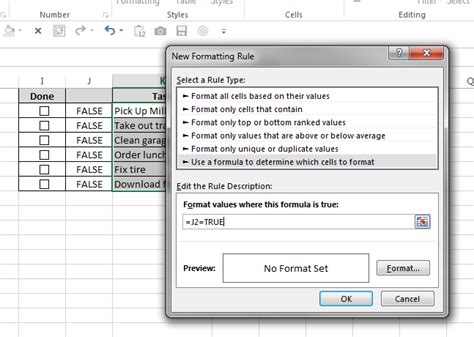 format excel cell as checkbox how to create a todo list in excel with checkboxes