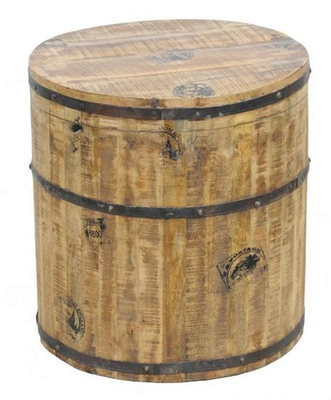 barrel accent table paris round barrel side table coastal side and accent tables pinterest