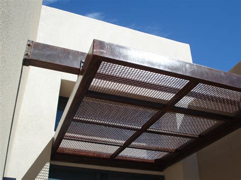 awnings design steel awning modern patio albuquerque by modulus design