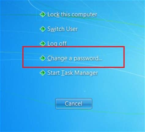 windows 7 reset your password how to change your windows 7 password nuangel net