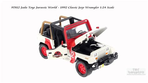jurassic world jeep toy 97812 jada toys jurassic world 1992 classic jeep wrangler