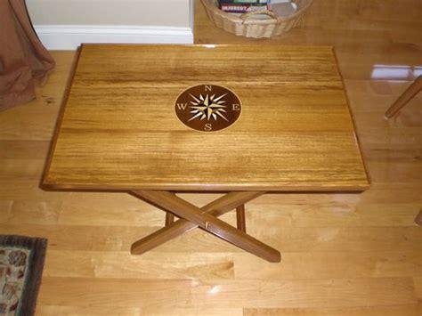 custom teak marine coffee table oceanside woodworking