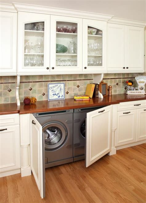 Kitchen Cabinet Washing Machine by Washing Machine In The Kitchen Spend Space Properly