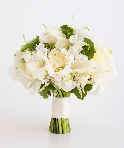 Simple Flower Bouquets For Weddings by Calla And Peony Mix White Wedding Flowers Real Simple