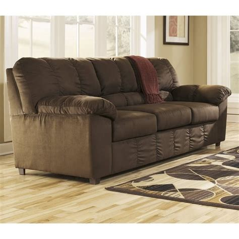 microfiber couch ashley furniture ashley dominator microfiber sofa in cafe 7156338
