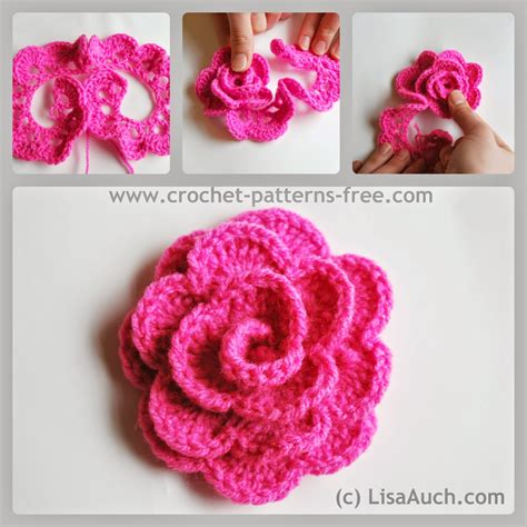 pattern crochet a flower free crochet flower pattern how to crochet a rose free