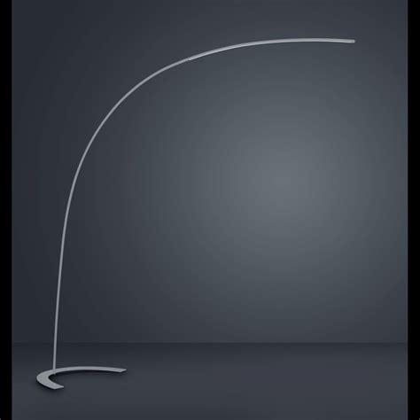designer bogenlampe mit fussschalter zum dimmen  silber